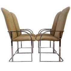 Milo Baughman for DIA Chrome Dining Chairs | 1stdibs.com