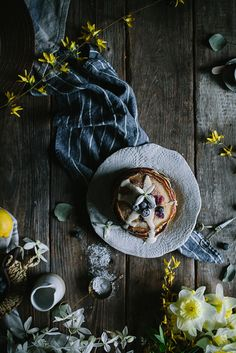 https://flic.kr/p/Fq5EGf | Blueberry Lemon Pancakes by Eva Kosmas Flores | Adventures in Cooking | www.adventuresincooking.com