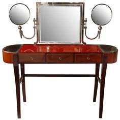 Czech Art Deco Vanity Table Designed by Jaroslav Grunt | 1stdibs.com