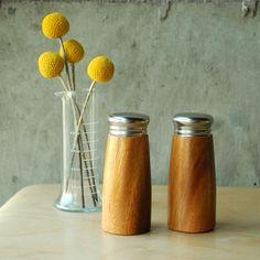 Wooden Salt and Pepper Shaker $14.50 @ vint.etsy.com
