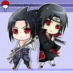 Sasuke, Itachi, Sharingan, cute, chibi; Naruto