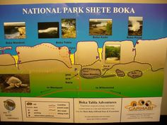Shete Boka Park Map, Curacao  DATED
