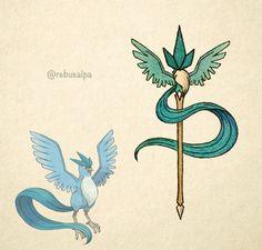 Pokémon weapon Articuno spear
