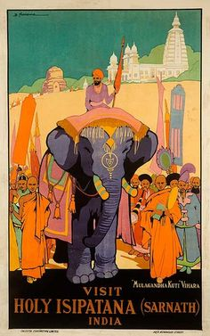 DP Vintage Posters - Visit Holy Isipatana India Original Travel Poster