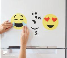 DIY Emoji fridge magnets by Pysselbolaget