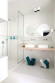 handsome dual-sink washroom