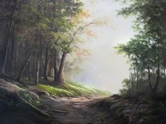 Want to go for a walk in the forest? Watch as Kevin shows you how to paint this dramatic light-filled forest painting. www.paintwithkevin.com