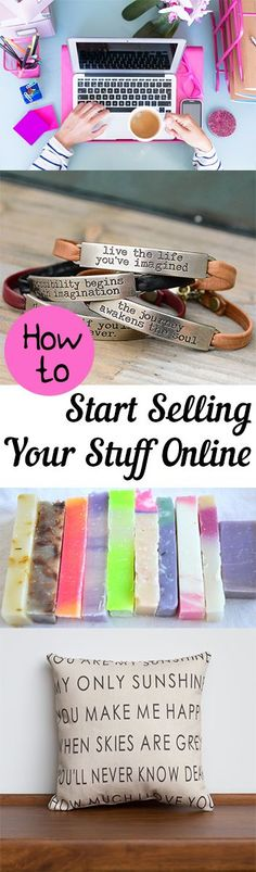 How to Start Selling Your Stuff Online. 5 Steps for starting a business selling online. #onlinebusiness #startup #followback