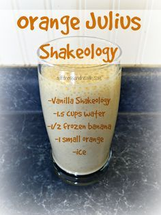 Try this Orange Julius Shakeology recipe! Super delicious, and packed full of nutrients and even more protein! Awesome when you just can't stop drinking that coffee, or need an extra boost! Get a new Shakeology/green smoothie recipe every Wednesday by add Protein Shake Recipes, Green Smoothie Recipes, Juice Smoothie, Smoothie Drinks, Protein Shakes, Healthy Smoothies, Healthy Drinks, Breakfast Smoothies, Diet Shakes