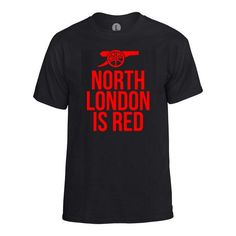 Football Machine Arsenal North London Is Red T-Shirt (Black/Red)