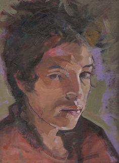 Oil portrait on board 30 x 23 cm of Bob Dylan.