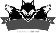 Find wolf head howling stock images in HD and millions of other royalty-free stock photos, illustrations and vectors in the Shutterstock collection. Wolf Pack, Logo Dragon, Fox Images, Team Logo Design, Wolf Artwork, Esports Logo, Dog Logo, Dragon Design, Illustration