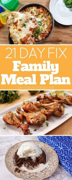 This 21 Day Fix Family Meal Plan is a list of the perfect recipes that your entire family will love!