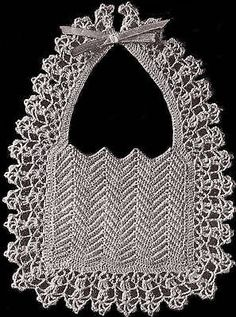Vintage-Crochet-PATTERN-to-make-Fancy-Old-Fashioned-Baby-Bib-Christening-DressyB