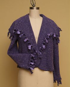 20 OFF Christmas SALE Beautiful Mauve Knitted Jacket by Olimpias, $225.00