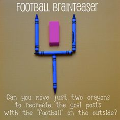Football Brainteaser ~ fun little activity for a football fan. (solution given in post)