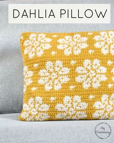 Dahlia Pillow - free crochet pattern