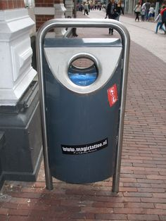 public trash bin