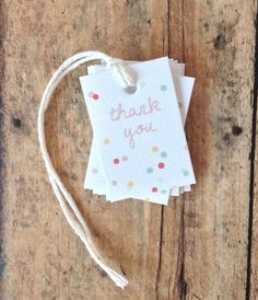 Party favor tags - modern polka dot favor tags - birthday party favors - bridal shower thank you tags