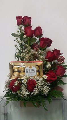 Pin on Floral arrangements Valentine's Day Flower Arrangements, Artificial Floral Arrangements, Beautiful Flowers Wallpapers, Beautiful Rose Flowers, Balloon Gift, Valentines Flowers, Floral Design, Floral Motif, Ikebana