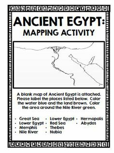 Worksheets Ancient Egypt Map Worksheet for kids greece and rome on pinterest ancient egypt geography activities