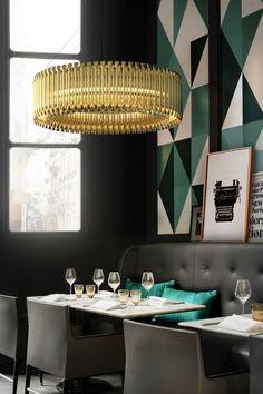 """5 Interior Lighting Design Ideas for Milan Luxury Houses- Matheny Delightfull Suspension lamp"""