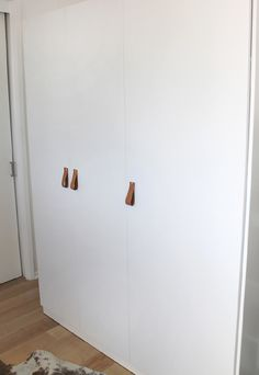 making this : diy leather cabinet pulls  add to sliding closet doors