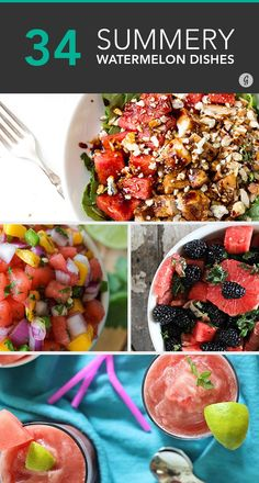 34 Ways to Eat Watermelon at Every Meal #refreshing #watermelon #recipes