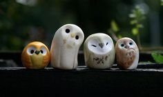 CUSTOM ORDER for JEN: Snitch, Basil, & white pygmy Harry Potter Inspired Owlery - Hobbies paining body for kids and adult Polymer Clay Animals, Polymer Clay Charms, Clay Crafts For Kids, Crea Fimo, Cute Clay, Sculpture Clay, Sculptures, Air Dry Clay, Diy Clay