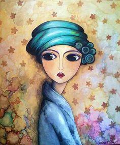 Romina Lerda - Google Search Art And Illustration, Illustrations, Watercolor Illustration, Muse Kunst, Art Fantaisiste, Art Visage, Inspiration Artistique, Muse Art, Happy Paintings