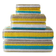 jcpenney - JCPenney Home™ Striped Bath Towels - jcpenney