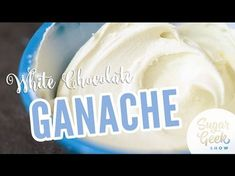 White Chocolate Ganache Recipe Learn how to make quick and easy white chocolate ganache that can be used for creating a flawless glaze or a delicious smooth frosting 24 oz guittard vanilla a peels Or other type of White Chocolate Ganache Frosting, Vanilla Ganache, Chocolate Cake, Frosting Recipes, Buttercream Frosting, Cupcake Frosting, Cake Recipes, Cake Fillings, Drip Cakes