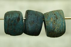 Old Blue Hebron Bead - estimated to be between 600 and 800 yrs old made in Israel from salt from the Dead Sea.