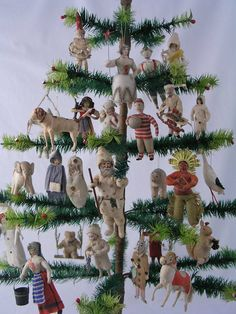 Incredible collection of German cotton ornaments