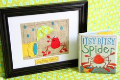 Frame a scene from your childs favorite book!! Made out of different textured fabric pieces glued down or stiched in a beautiful frame for their bedroom - What a great DIY!!!