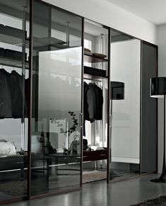 Glass sliding door GDESIGNER Design Series by GAROFOLI