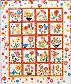 Whimsical Garden. This may be my next bloomin quilt                                                                                                                                                                                 More