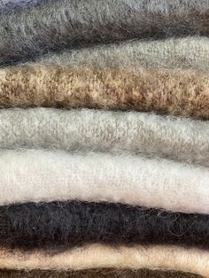 Masterweave textiles weave mohair fibre into luxurious soft blankets. They are then brushed in a traditional method with teasel heads, this creates a lightness and 100% mohair pile ❤️ #mohair #winterhomedecor Mohair Blanket, Mohair Throw, Luxury Throws, Winter Home Decor, Soft Blankets, Textile Design, Weave, Textiles, Traditional