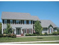 Adam - Federal House Plan with 2879 Square Feet and 4 Bedrooms from Dream Home Source   House Plan Code DHSW22905