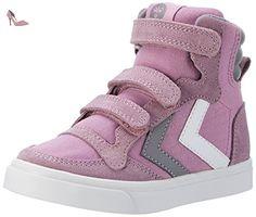 Hummel Mädchen Deuce Court JR Low-Top, Pink (Orchid Hace), 35 EU