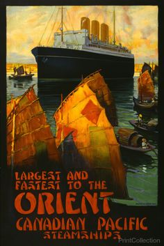 PrintCollection - Canadian Pacific Steamships to the Orient