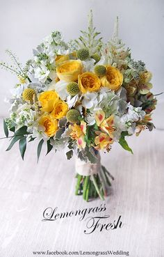 Flowers Beautiful Bouquet Peaches 49 New Ideas Yellow Wedding Flowers, Bridal Flowers, Yellow Flowers, Floral Wedding, Wedding Flower Arrangements, Floral Arrangements, Wedding Bouquets, Amazing Flowers, Love Flowers
