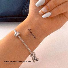 'Hope' Temporary Tattoo (Set of 3) – Small Tattoos