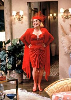 Rue McClanahan as Blanche Devereaux in The Golden Girls Blanche Devereaux, Seinfeld, Marceline, American, Lady In Red, Dame, My Girl, Nice Dresses, Girl Fashion