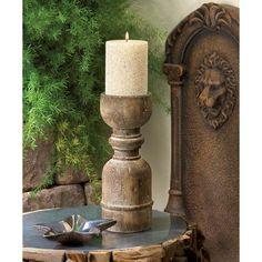 Turned Wood Candlestick Zingz & Thingz  57071125