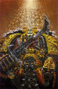 """Warhammer 40k, Legions of Chaos - """"A Champion Chaos Marine in the service of Khorne, Lord of Skulls, Chaos God of Blood, War, and Murder."""""""