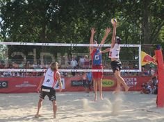 FIVB beach volleyball rules – three hits after block touch Beach Volleyball Rules, Swat, Basketball Court, Touch, Sports, Hs Sports, Swimming, Sport
