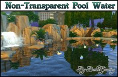 Sims 4 CC's - The Best: Non-Transparent Pool Water by Bakie