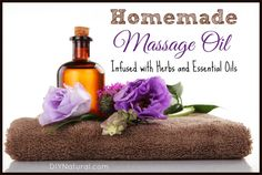 This homemade massage oil, infused with herbs and essential oils, will blow your mind! This recipe will help soothe sore muscles and also promote healing