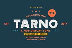 Tarno Display Font by Heybrinc Studio on @creativemarket